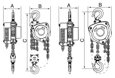 2- Схема тали ручной шестеренной SCH