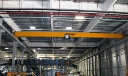 Overhead bridge crane with a 5,0 t flight span 24 m, for the leading woodworking enterprise
