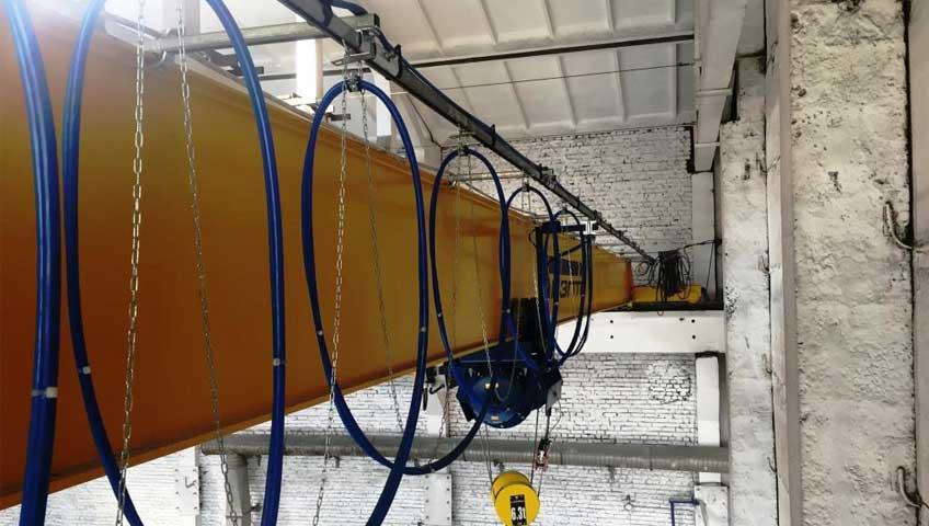 4-Мостовой однобалочный кран опорного типа