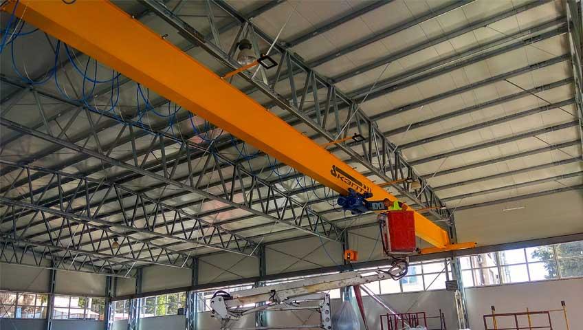3-Монтаж мостового опорного крана