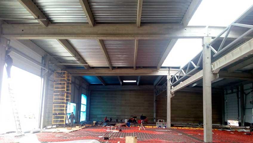 строящий цех монтаж мостового крана