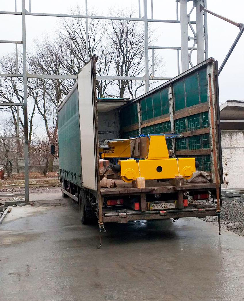 Монтаж мостового крана 10т