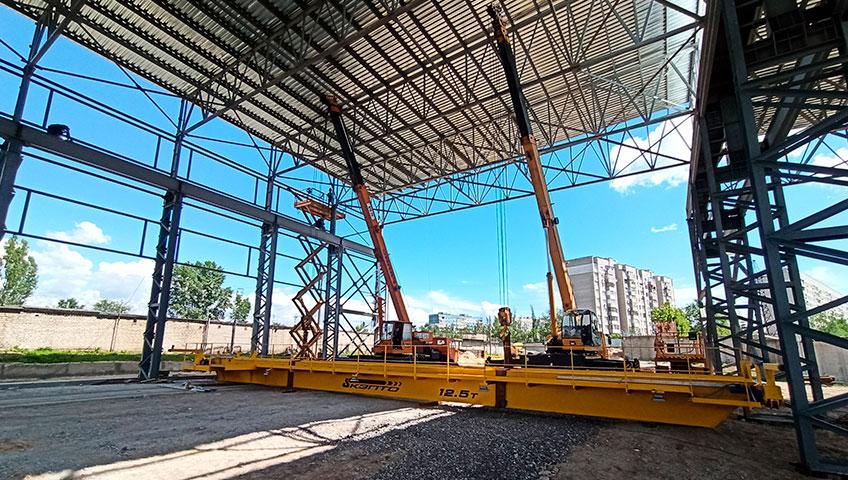 монтаж мостового крана