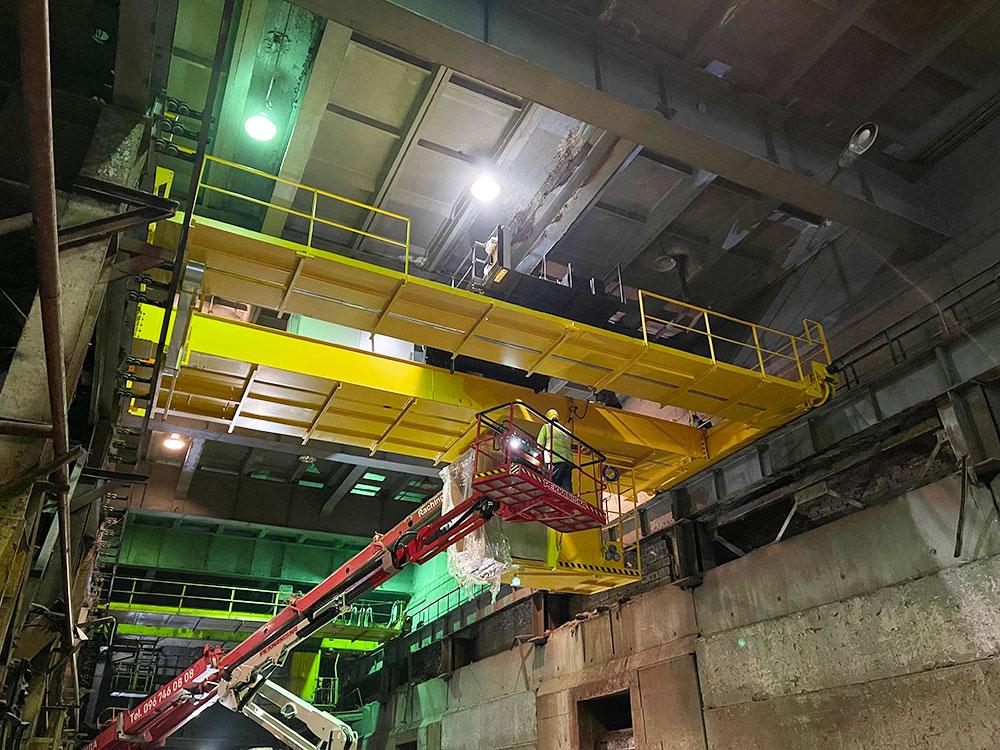 грейферный кран для мусоросжигательного завода